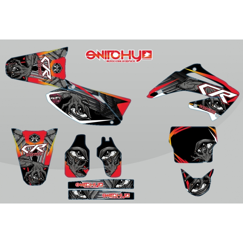 kit adesivi grafiche monster honda cr 125 250 r dal 2003. Black Bedroom Furniture Sets. Home Design Ideas