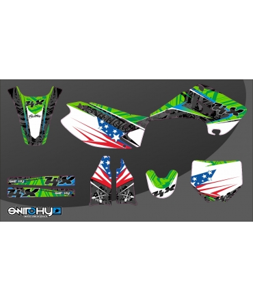 kit adesivi grafiche camosplatter a kawasaki kx 125 250. Black Bedroom Furniture Sets. Home Design Ideas