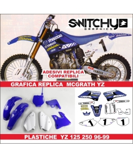 PLASTICS + DECALS REPLY MCGRATH - YAMAHA YZ 125 250 1996 - 1999