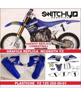 PLASTICS + DECALS REPLY MCGRATH - YAMAHA YZ 125 250 2000 - 2001