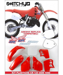 PLASTICS + DECALS REPLY - HONDA CR 125 R 1990
