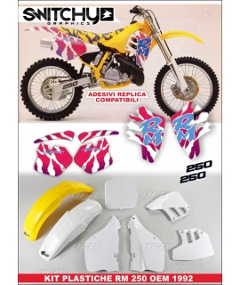 PLASTICS + DECALS REPLY '92 SUZUKI RM 250 1989 - 1992