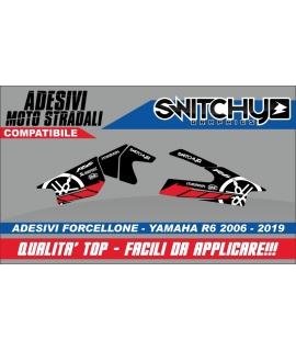 RACE TRACK RED - ADESIVI PROTEZIONE FORCELLONE R6 2006 - 2019