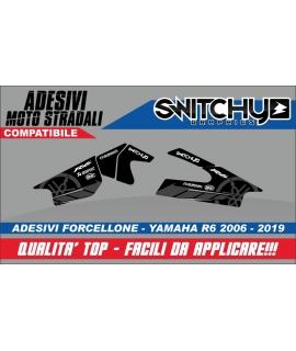 RACE TRACK BLACK - ADESIVI PROTEZIONE FORCELLONE R6 2006 - 2019