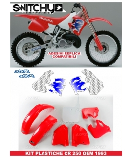 PLASTICS + GRAPHICS REPLY '93 - HONDA CR 250 1992 1993 1994