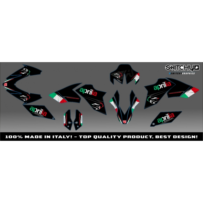 kit adesivi grafiche black italy aprilia dorsoduro 900. Black Bedroom Furniture Sets. Home Design Ideas