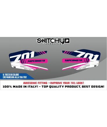 FACTORY A - HANDGUARDS STICKERS FOR 701 AUPERMOTO