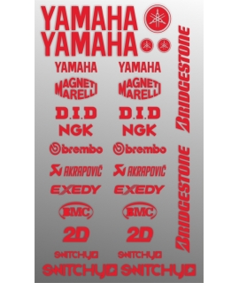 SPONSOR STICKERS KIT - YAMAHA RED