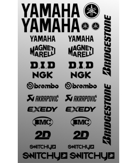 SPONSOR STICKERS KIT - YAMAHA BLACK