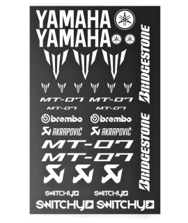 SPONSOR STICKERS KIT - YAMAHA MT-07 WHITE