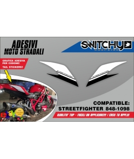 CODONE STICKERS - DUCATI STREETFIGHTER 848 - 1098