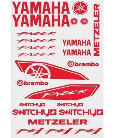 SPONSOR STICKERS KIT - FZ1 FAZER RED 2006