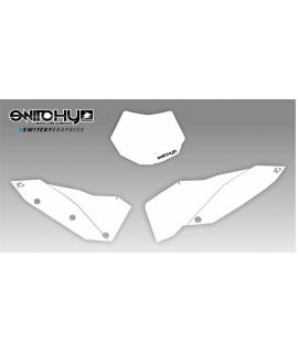 WHITE PLATES - SX F 250 450 2007 2008 2009 2010