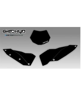 BLACK PLATES - SX F 250 450 2007 2008 2009 2010