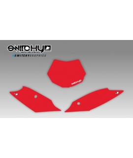 RED PLATES - SX F 250 350 450 2011 2012