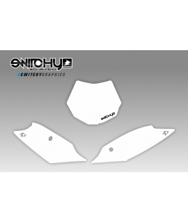 WHITE PLATES - SX F 250 350 450 2011 2012